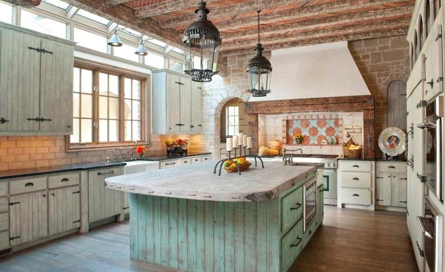 Rustična kuhinja za toplinu čitavog doma